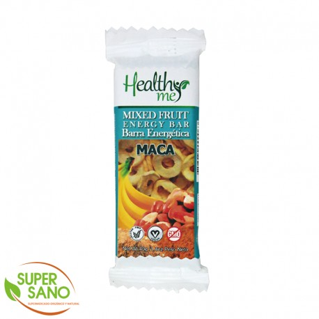 BARRA ENERGÉTICA FRUTA MIXTA - SNACKS A BASE DE MACA  - 40 GR - HEALTHY ME