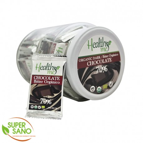 CHOCOLATE ORGÁNICO DARK 70% - 9 GR - HEALTHY ME