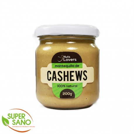 MANTEQUILLA DE CASHEWS - MANTEQUILLA NATURAL - 200 GR - NUTS LOVERS