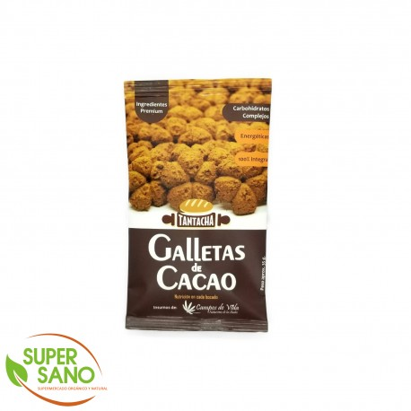 GALLETAS INTEGRALES DE CACAO – SNACKS - 70 GR – TANTACHA
